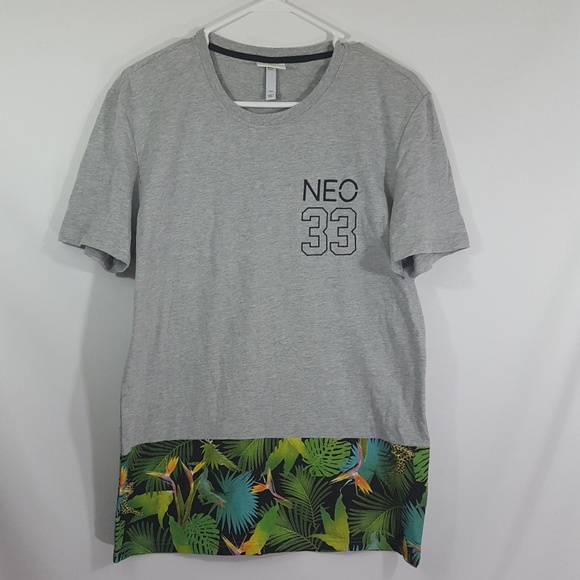 Adidas Neo 33 Tropical Print Men'sHawaiian T Shirt